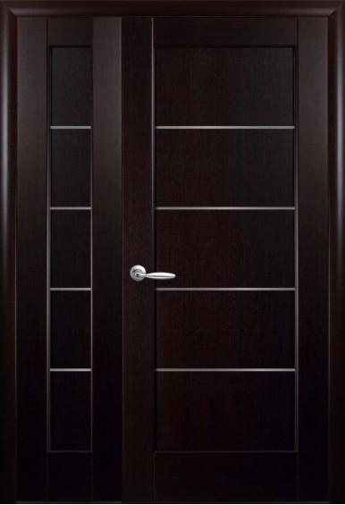Двери межкомнатные Мира венге двустворчатые
