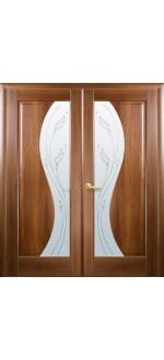 Двери межкомнатные Эскада золотая ольха двустворчатые