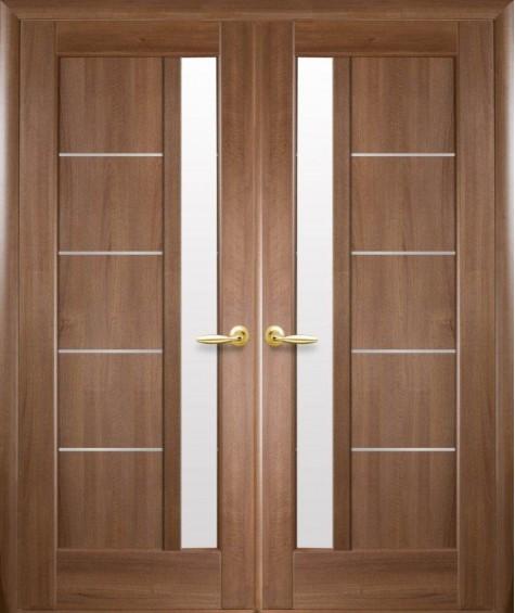 Двери межкомнатные Грета золотая ольха двустворчатые