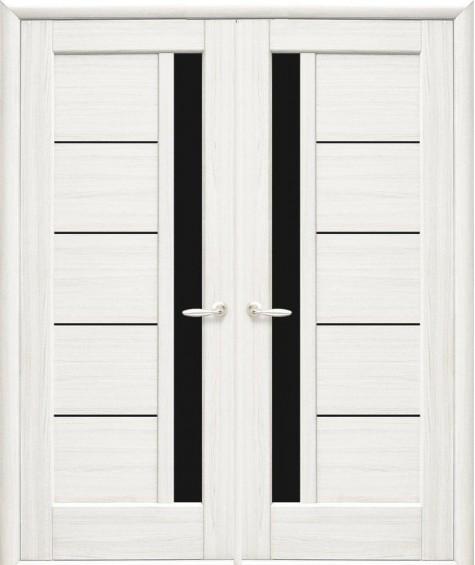 Двери межкомнатные Грета белый мат двустворчатые