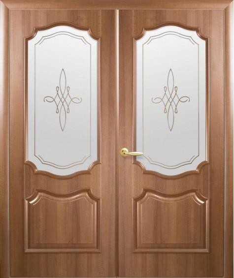 Двери межкомнатные Рока золотая ольха двустворчатые