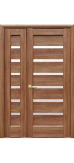 Двери межкомнатные Линея золотая ольха двустворчатые