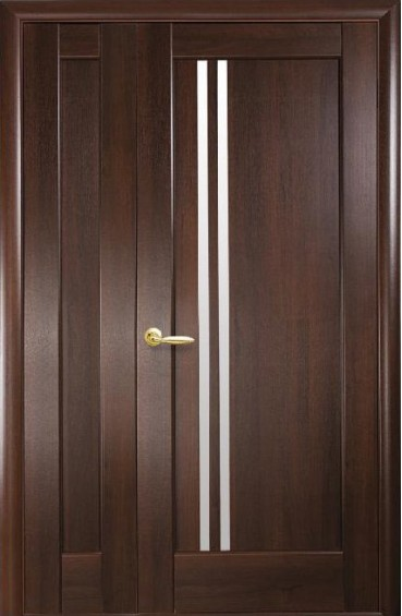 Двери межкомнатные Делла каштан двустворчатые
