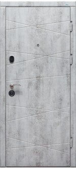 Входные двери Фортнокс Оптима бетон пепельный