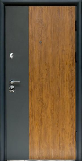 Входные двери Фортнокс Статус S-3 Графит/Дуб золотой