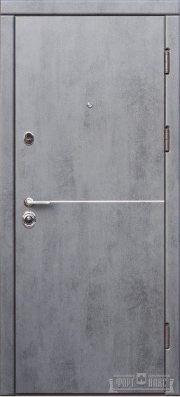 Входные двери Фортнокс Троя бетон темный