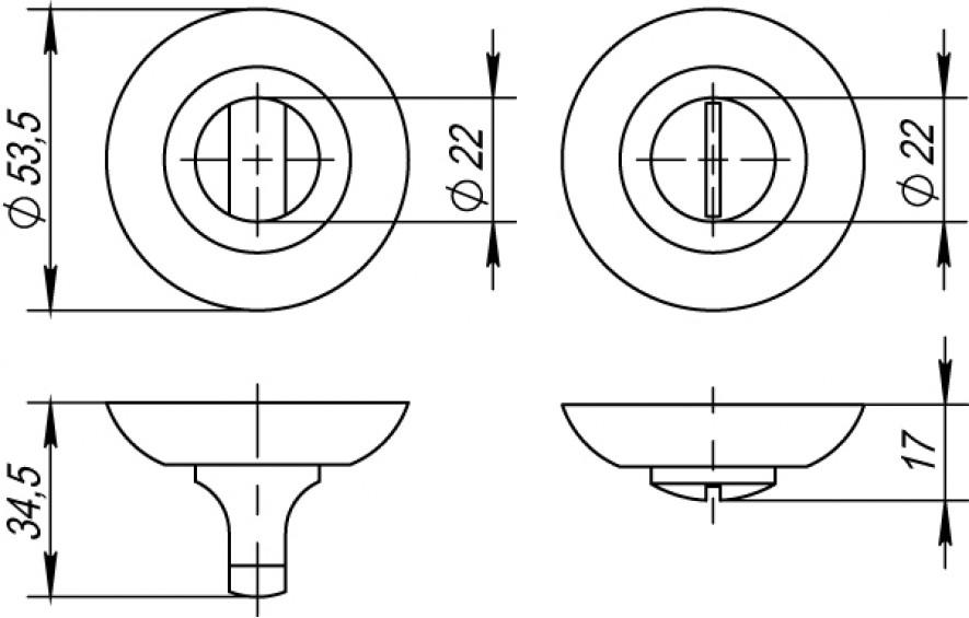 Накладка на фиксатор круглая кофе глянец