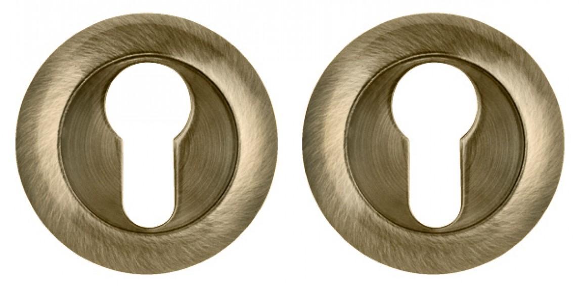 Накладка на цилиндр круглая бронза