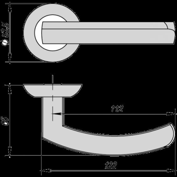 Ручка дверная ALFA матовый никель/хром