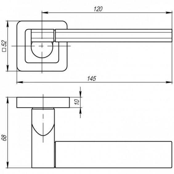 Ручка дверная NOVA матовый никель/хром