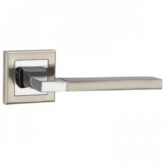 Ручка дверная BLADE матовый никель/хром