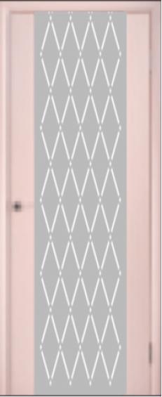 """Межкомнатные двери Глазго Триплекс """"Сатин + пескоструй"""""""