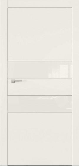 Межкомнатные двери А2 Art Vision слоновая кость белое стекло