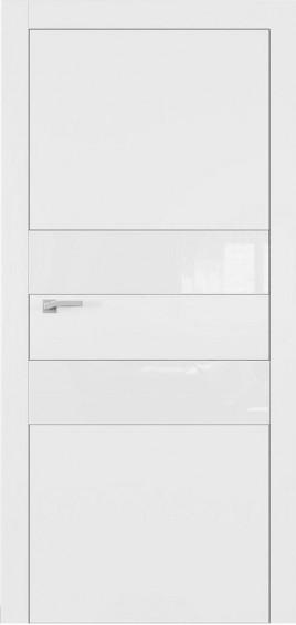 Межкомнатные двери А2 Art Vision белый мат белое стекло
