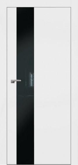 Межкомнатные двери А3 Art Vision белый мат черное стекло