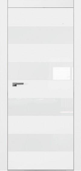 Межкомнатные двери А5 Art Vision белый мат белое стекло