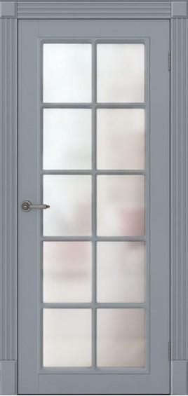 Межкомнатные двери Ницца серые со стеклом