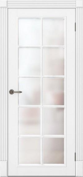 Межкомнатные двери Ницца белый мат со стеклом