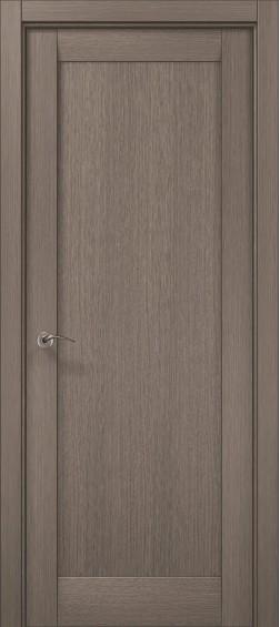 Межкомнатные  двери ML-00F Дуб серый брашированный