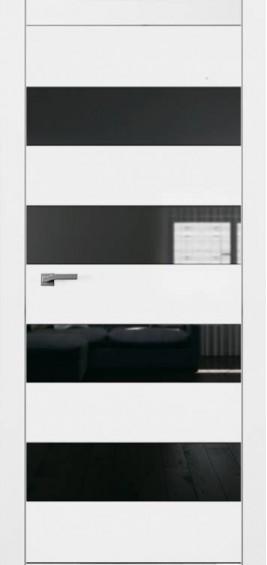 Межкомнатные  двери Плайн Горизонталь 4 белая эмаль