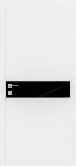 Межкомнатные  двери Плайн Горизонталь белая эмаль