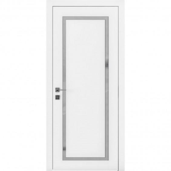 Межкомнатные  двери Торонто гласс белая эмаль